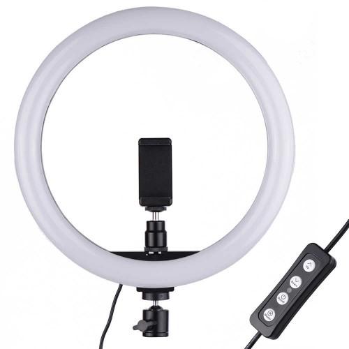 Gredzena lampa LED lampa 33 cm ar statīvu